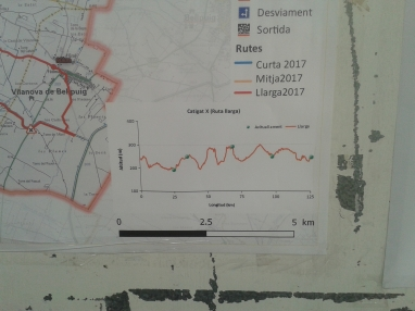 Detalle del perfil del recorrido de 125kms