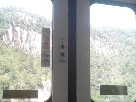 Vistas del paso al pié del Tagamanent, entre els Cingles de Bertí y el Montseny.