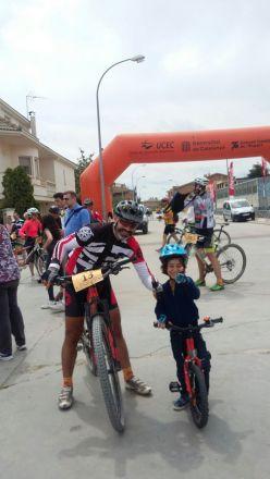 Con mi fan número 1, por supuesto el también en bici!