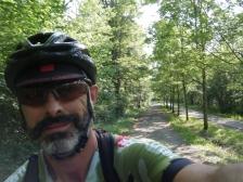 Calma absoluta en la ruta, frescor, 22ºC, tranquilidad.