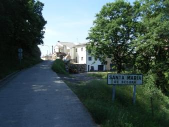 Paso por Santa Maria de Besora. Mitad de ascensión.