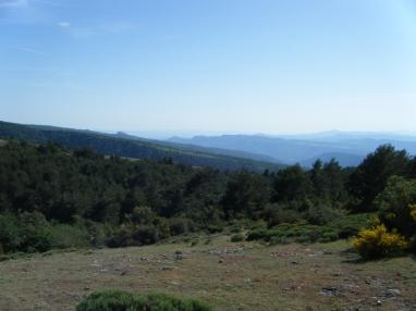 Pero el premio fueton unas vistas impresionantes sobre 1300 msnm, coma d'en Bessa, bajo el Matagalls.
