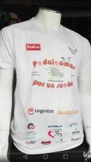 Camisetas para colaborar con IRAILA y promocionar el reto. Precio de 12€ (entrega en mano) más 3€ si precisa de envío por correo. Disponibles en tallas S ,M ,L y XL.