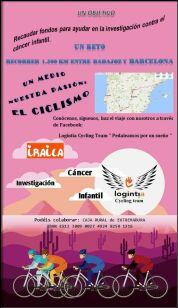 Cartel del reto: pasión por el ciclismo para llevar a cabo una acción solidaria