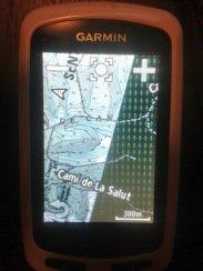 1a. prueba de carga, podéis ver la clara diferencia con y sin mapas KMZ. Más información y mejora de visualización. La cartografía de Garmin siempre estará por encima.