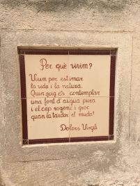 Un poema en la calle de Bràfim, que da una razón por la que vivir.