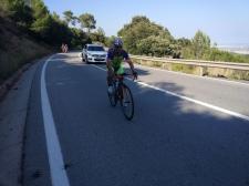 José F. recorriendo los últimos kms de la ruta, ya llegando al Delta del Llobregat.