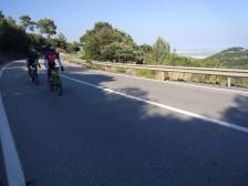 Ramón y José L. avanzando a gran velocidad hacía Gavà.