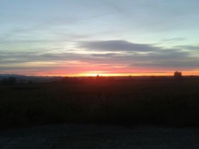 Salida de Alguaire, amanecer....