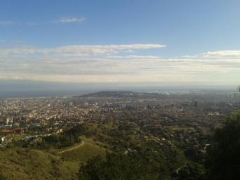 Vista a Montjuïc.