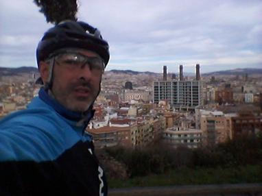 Una de las vistas que más me gustan de Barcelona, desde Miramar (Montjüic)