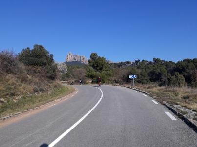Superando el Coll de la Massana para llegar a la Munanya de Montserrat