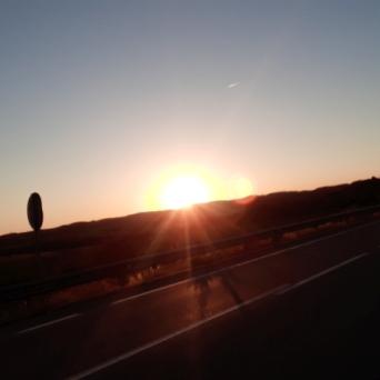 Alguién me dijo: cuando veas salir el sol, te sentirás como un un Dios... momento mágico.
