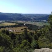 Vista de la Conca de Tremp des de el descenso del Coll de Comiols.
